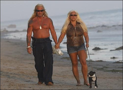 Duane Chapman, better known as Dog the Bounty Hunter, walks along the beach in Malibu, Calif