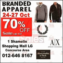 Fred Perry Armani Exchange Warehouse Sale Branded Apparel 2013 Malaysia Deals Offer Shopping EverydayOnSales