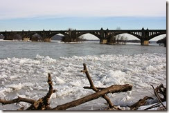 Susquehanna River Ice at Wrightsville, by Sue Reno