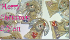 handmade dough clay angels