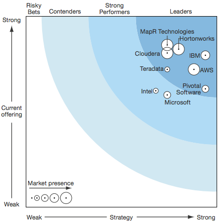 Forrester wave for Hadoop
