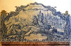 Glória Ishizaka - Mosteiro de Alcobaça - 2012 - Sala dos Reis - azulejo 7 a