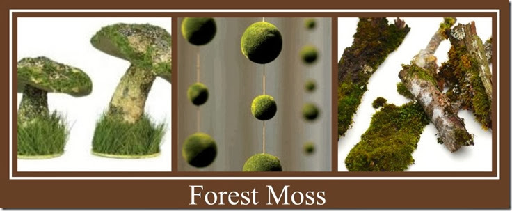 Ribbet collage Forest moss