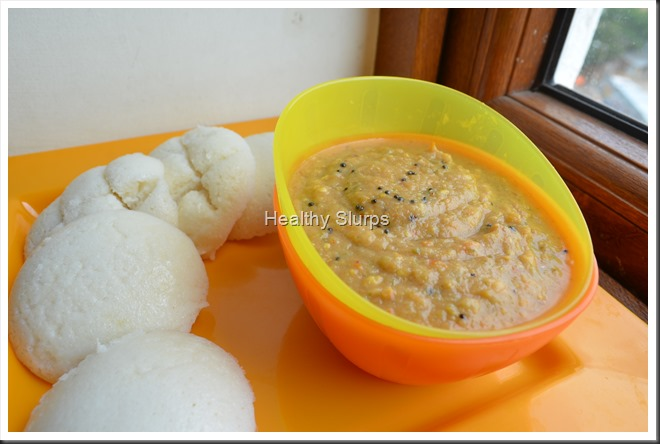Soft Idlis with Spicy Chutney