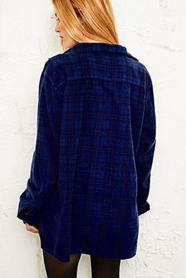 Overdyed-blue-tartan-shirt-Urban-Outfitters