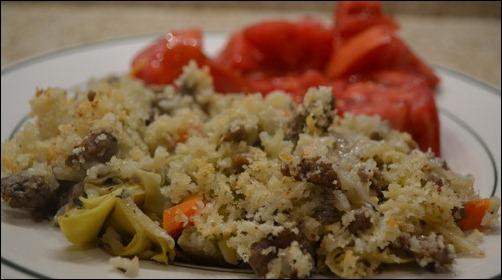 sausage and artichoke risotto