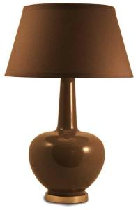 Taupe Porcelain Table Lamp (wellappointedhouse.com