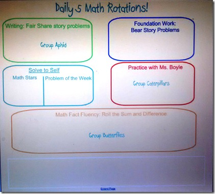 Daily 5 Math Smartboard