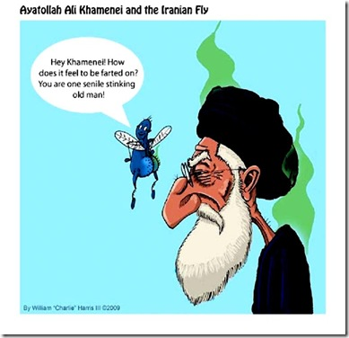 Khamenei and Iranian Fly toon