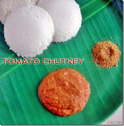TOMATO CHUTNEY FOR IDLI