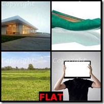 FLAT- 4 Pics 1 Word Answers 3 Letters