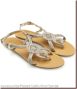 Accessorize Plaited Celtic Knot Sandal