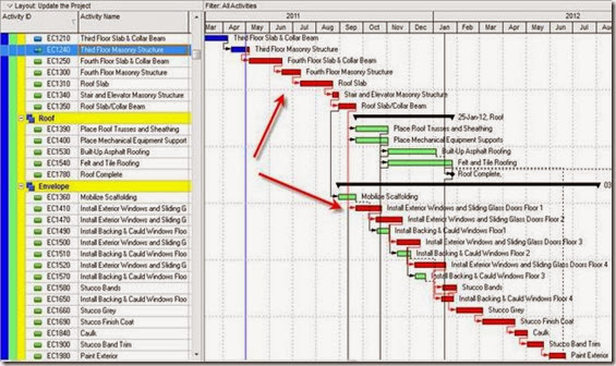 how to show critical path in ms project 2013