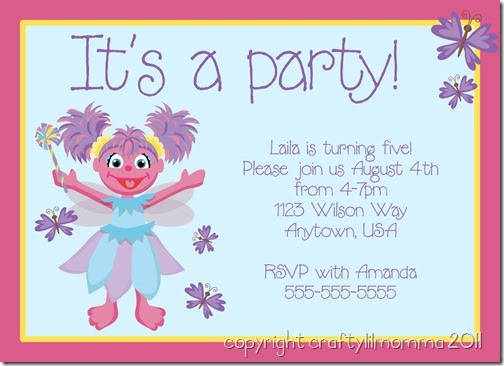 Sesame Street Invitation was perfect invitations template