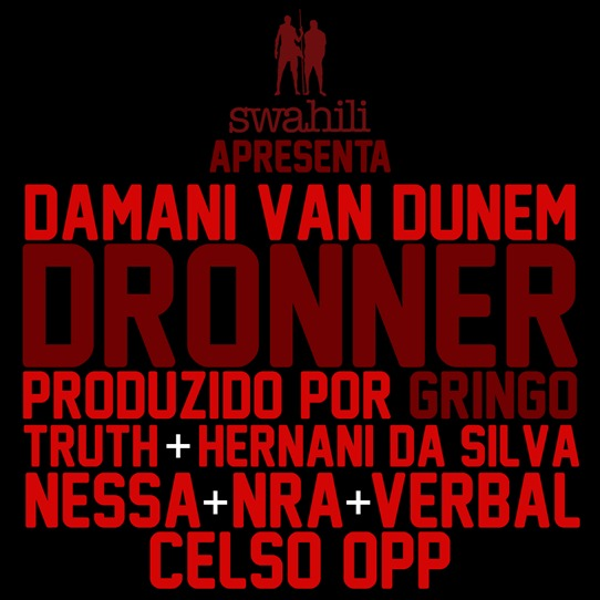 Dronner banner black red
