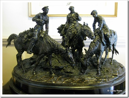 Cossack soldier's watering their horse's. Made by E A Lansere 1878.