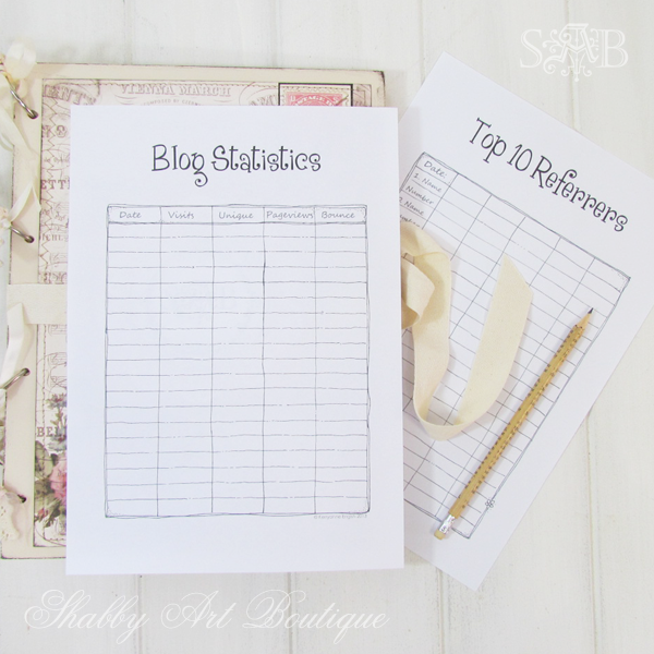 Shabby Art Boutique - Blog Planner 4