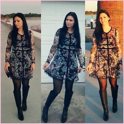 Leila & Vanya: Outfit Ideas: Floral Print Lace Dress