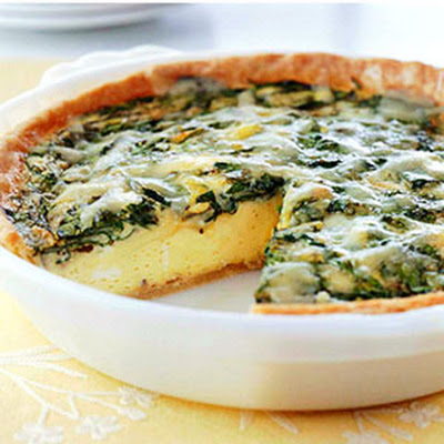 Spinach and Gruyere Quiche