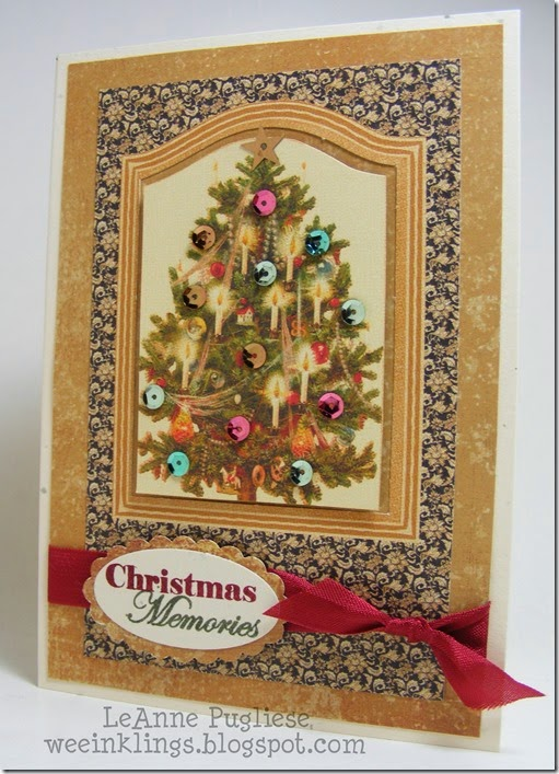 LeAnne Pugliese WeeInklings Merry Monday 117 Graphic 45 Christmas Stampin