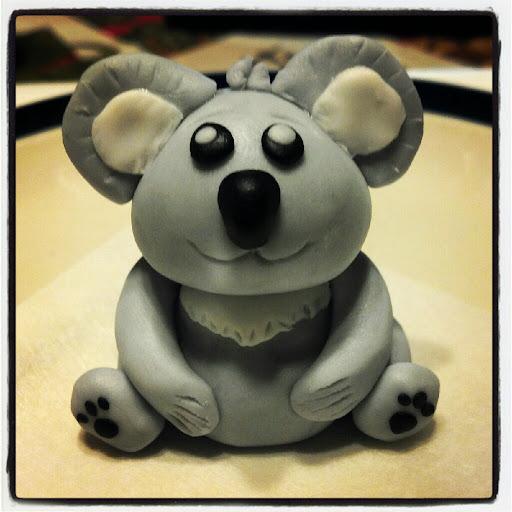 Fondant Koala Cupcakes Fondant Koala