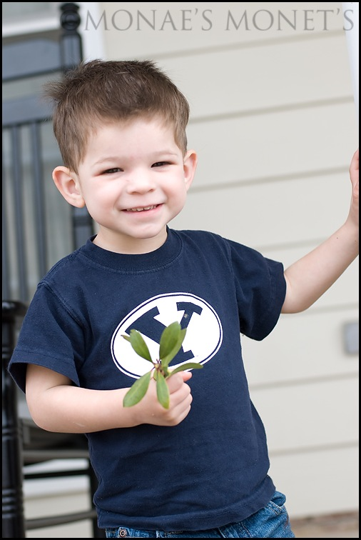 Scott two year old picture smile blog