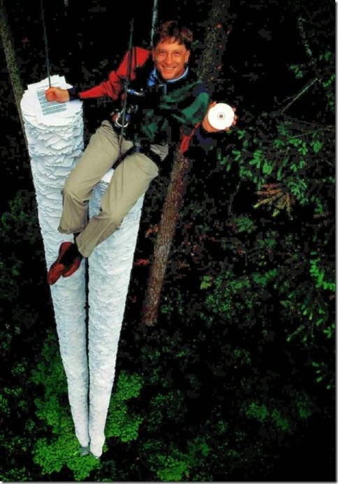 Фотография 20-летней давности с Биллом Гейтсом - столько текстовой информации вмещает один компакт-диск