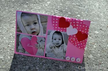 Pink heart cupcake liner