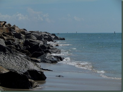 Fort Pierce inlet  rocks at inlet