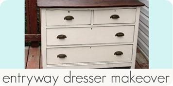 entryway dresser makeover