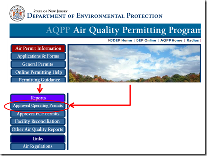 State of New Jersey Department of Environmental Protection AQPP Air Quality Permitting Program