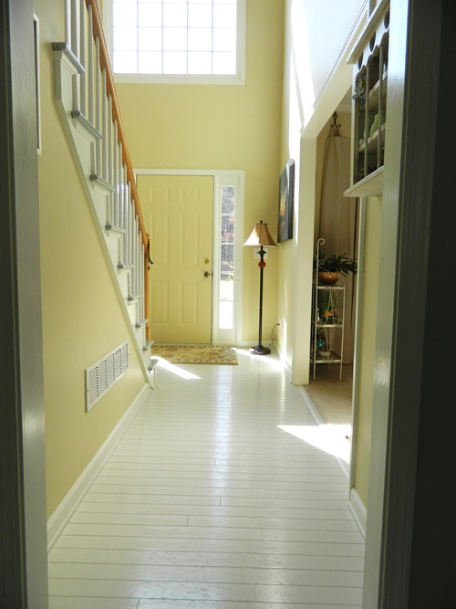 hardwood floors painted light gray