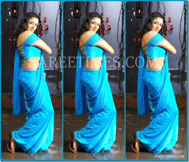 Vimala_Raman_Blue_Hot_Saree