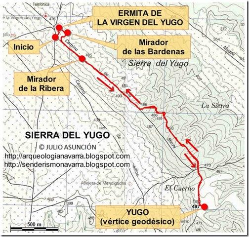 Mapa ruta Sierra del Yugo