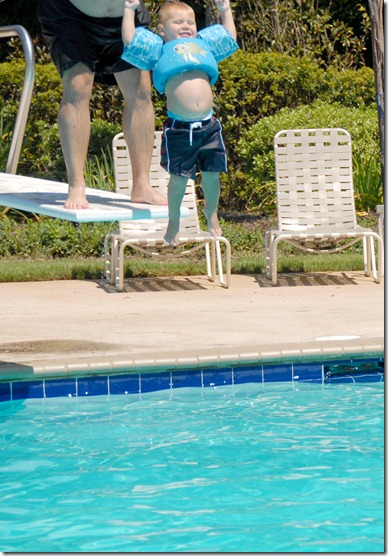 T jumping from diving board