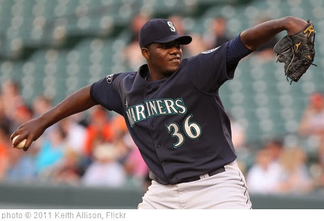 'Seattle Mariners starting pitcher Michael Pineda (36)' photo (c) 2011, Keith Allison - license: http://creativecommons.org/licenses/by-sa/2.0/