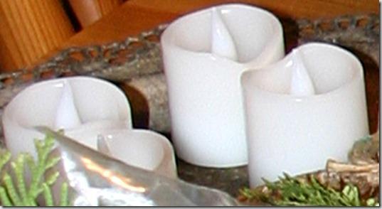 kjøkkenbord dekorasjoner 5 Ledlys