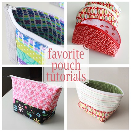 Favorite Zipper Pouch Tutorials from Andy Knowlton of A Bright Corner
