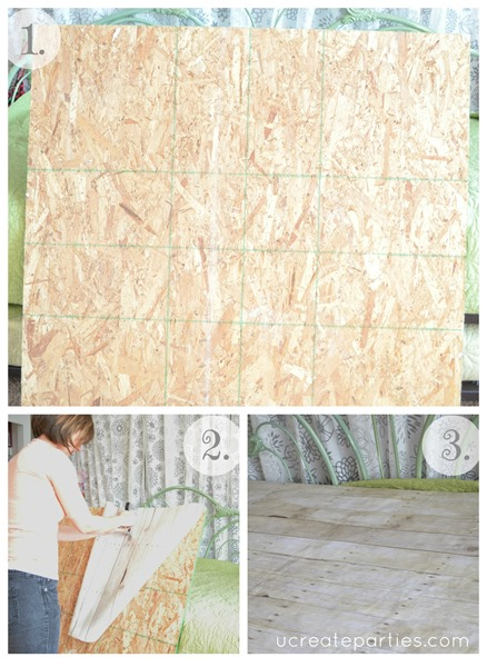 DIY Photo Shoot flooring