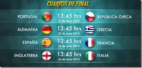cuartos de final euro 2012 en vivo