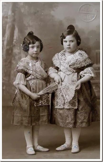 las falleritas. Foto Boldún. Ca. 1930