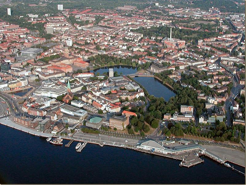 Foto aérea de Kiel