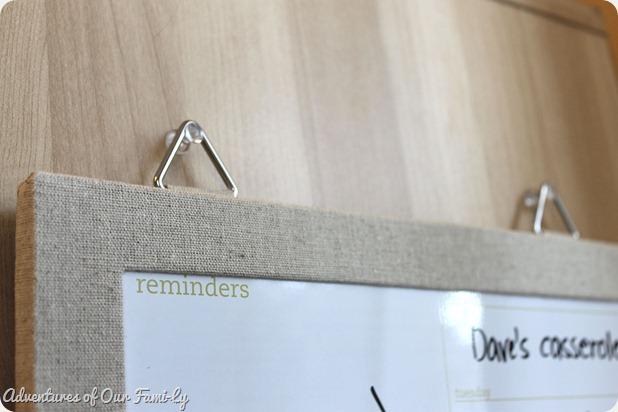kitchen organization memo board push pins