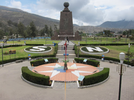 The Mitad del Mundo monument and village, just outside Quito, Ecuador.