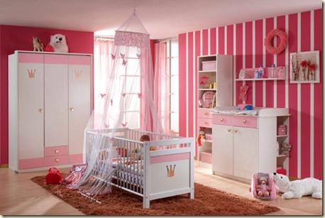 decoracion de dormitorio de bebe niña-