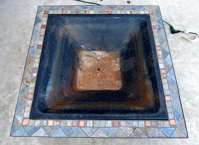 high heat rustoleum spray paint to restore fire pit 1