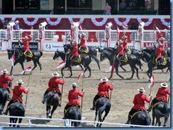 9336 Alberta Calgary - Calgary Stampede 100th Anniversary - Stampede Grandstand RCMP Musical Ride