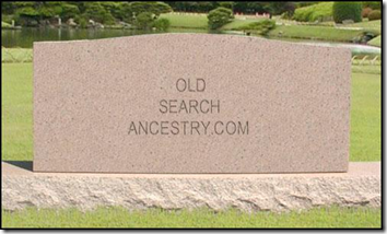 Old Search gravestone