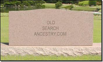 Old Search gravestone