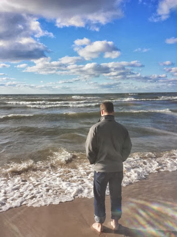 Standing in Lake Michigan